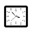 a clock icon in outline time minute vector image vector image