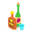 alcohol icon cartoon isometric 3d style vector image vector image