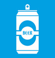 aluminum can icon white vector image vector image