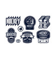 badges set ice hockey team vector image vector image