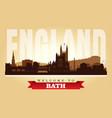 bath united kingdom city skyline silhouette vector image vector image