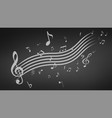 black abstract music background vector image vector image