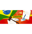 brazil corruption money bribery financial law vector image vector image