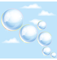 bubbles in the sky vector image