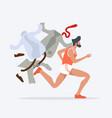 businessmen hurry running vector image