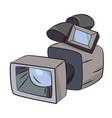 cartoon image of video camera camera symbol vector image vector image