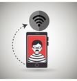 cellphone hacker app icons vector image