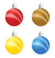 christmas ball ornament set vector image vector image