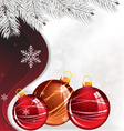 Christmas decorations and spruce branches vector image