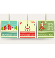 christmas sale tags vector image
