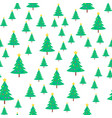christmas tree with ball and star seamless pattern vector image vector image