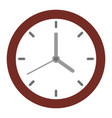 clock with hands time management organization vector image