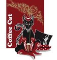 coffeecat4 vector image vector image