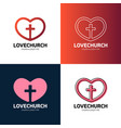 cross and heart of faith christian church logo vector image vector image