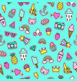 cute pins seamless pattern vector image vector image