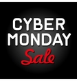 Cyber Monday Background with Sale Tag vector image