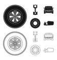 design of auto and part logo set of auto vector image