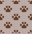 dog or cat paw dog footprint flat seamless pattern vector image