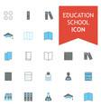 education school icons set vector image