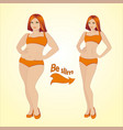 fat and slim woman vector image