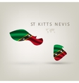 flag st kitts nevis as a country with a shadow vector image vector image