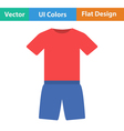 Flat design icon of Fitness uniform vector image vector image