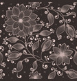 flower seamless pattern element elegant vector image vector image