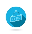 For sale icon Advertising banner tag sign vector image vector image