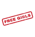 Free Girls Text Rubber Stamp vector image vector image