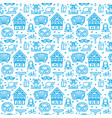 germany oktoberfest signs seamless pattern vector image vector image