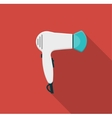 Hairdryer flat icon with long shadows vector image vector image