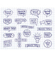 hand drawn speech bubbles badges and ribbons vector image vector image