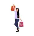 happy customer woman shooping vector image vector image