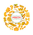 italian pasta or macaroni poster vector image vector image