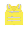 life jacket icon yellow design vector image