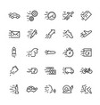 line icon set speed editable stroke vector image