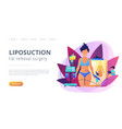 liposuction concept landing page vector image