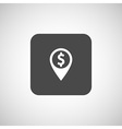 Map pointer with dollar sign icon vector image vector image