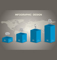 modern 3d infographic design template vector image vector image