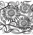 modern abstract sunflowers seamless pattern vector image vector image