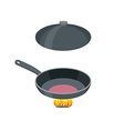 Open pan on a white background Pan stands vector image vector image
