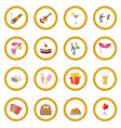 party icon circle vector image vector image