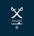 pirates sign set one on blue vector image vector image