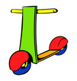 push scooter icon icon cartoon vector image