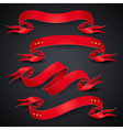 red ribbons black vector image