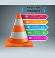 road road repair work infographic design template vector image vector image