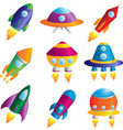 rockets icons vector image
