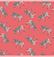 seamless pattern background with adult zebra vector image vector image