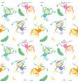seamless pattern monkey vector image