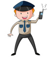 Security guard vector image